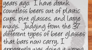 Random Thoughts from a Server 65: Beer Glasses | Restaurant Laughs